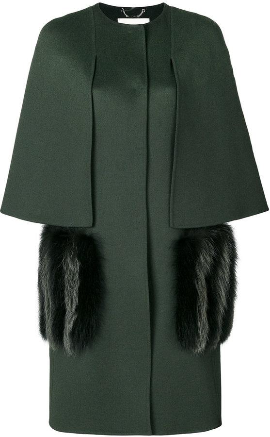 Fendi pocket embellished coat