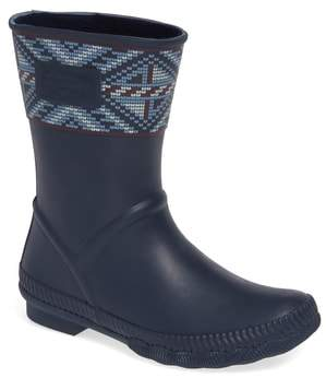 Sperry Saltwater Current Fair Isle Waterproof Rain Boot