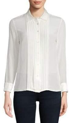 Robert Graham Gloria Silk-Blend Button-Down Shirt
