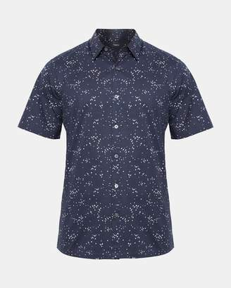Theory Printed Cotton Standard-Fit Shirt