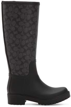 Coach 40mm Westerly Tall Rubber Rain Boots