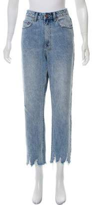 Ksubi High-Rise Straight-Leg Jeans