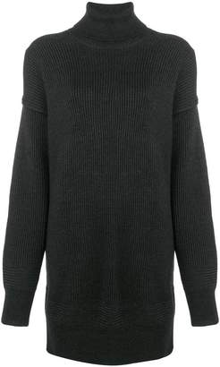 Diesel Black Gold roll neck jumper dress