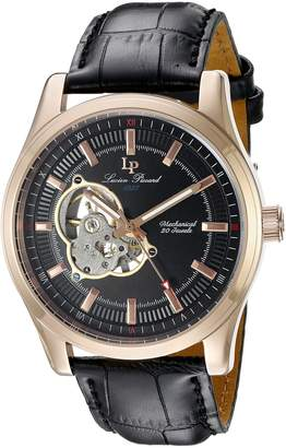 Lucien Piccard Men's LP-40006M-RG-01 Morgana Rose Gold-Tone Hand-Wind Watch with Leather Band