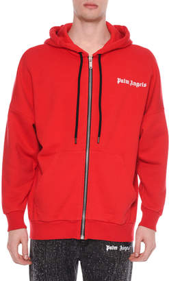 Palm Angels Men's New Basic Zip-Front Hoodie