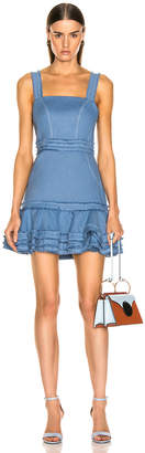 Alexis Judith Dress in Shell Blue Linen | FWRD