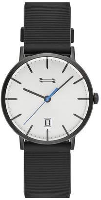 Rebecca Minkoff Norrebro Black Tone Rubberized Strap Watch, 40Mm