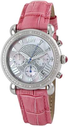 JBW Women's Victory Stainless Steel & Leather Watch, 37mm