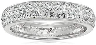 clear Sterling Silver Crystal Band Ring