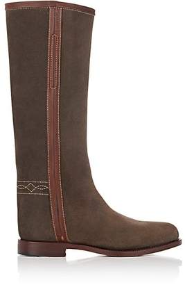 Cartujano Espana Women's Waxed Suede Knee Boots - Brown