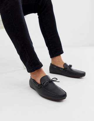 Asos Design DESIGN driving shoes in black soft leather