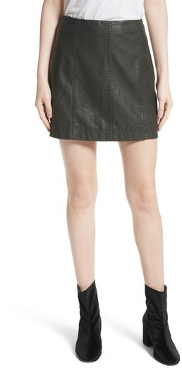 Women's Free People Modern Femme Faux Leather Miniskirt