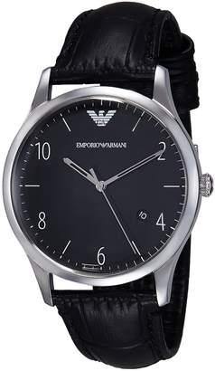 Emporio Armani Men's AR1865 Dress Black Leather Watch