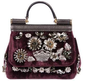 Pre-Owned at TheRealReal · Dolce   Gabbana 2016 Mini Embellished Miss Sicily a70ad2c477484