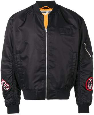 McQ patch bomber jacket