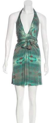 Issa Printed Halter Dress