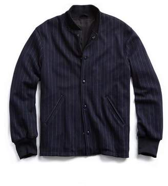 Todd Snyder Golden Bear + Exclusive Pinstripe Coaches Jacket in Navy