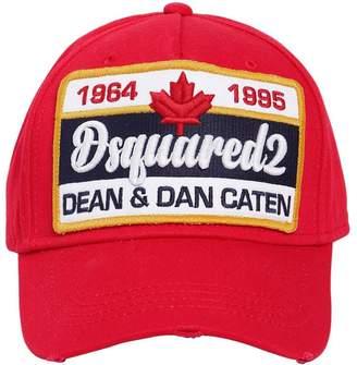 fe5d410b DSQUARED2 Patch Cotton Canvas Baseball Hat