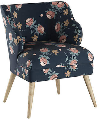 One Kings Lane Kira Accent Chair - Navy Linen