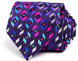Robert Talbott Bright Prism Hexagon Neat Classic Tie $155 thestylecure.com