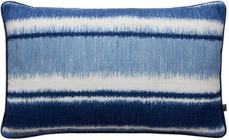 Graham & Brown Ikat Strip Blue Pillow