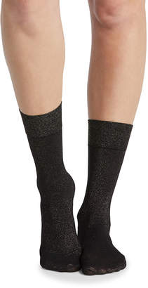 Spanx Gold Shimmer Opaque Half-Calf Socks