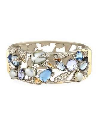 Alexis Bittar Crystal Mosaic Lace Cuff Bracelet $495 thestylecure.com