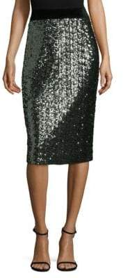 Milly Sea Glass Classic Midi Pencil Skirt