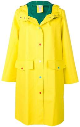 Mira Mikati loose fitted rain coat