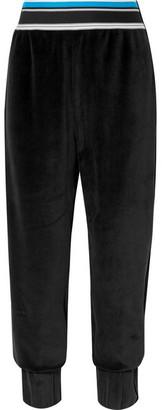 NO KA 'OI NO KA'OI - Epaki Cotton-blend Velour Track Pants - Black
