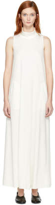 Raquel Allegra Ivory Long Turtleneck Dress