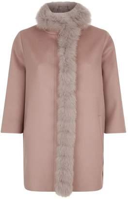 Harrods Fox Fur Trim Coat