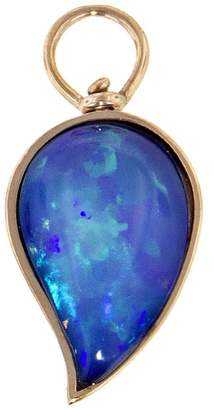 Marla Aaron Small Dark Opal Drop Charm - Rose Gold