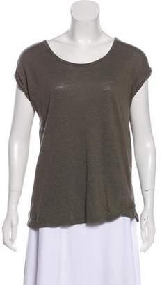 Tahari Short Sleeve Scoop Neck Top