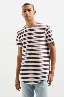 Urban Outfitters Echo Stripe Long Loose Scoopneck Tee