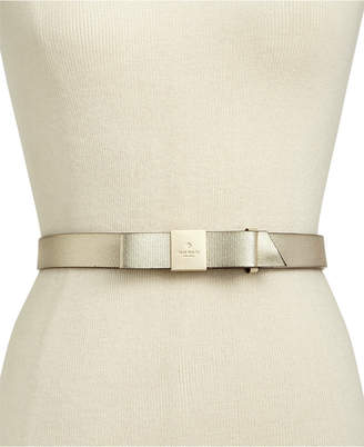 Kate Spade Logo Bow Leather Belt