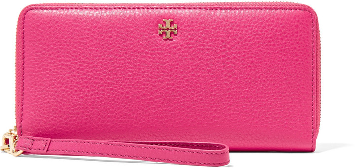 Tory Burch Tory Burch Textured-leather wallet