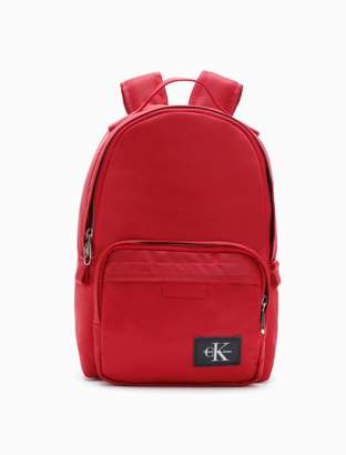 Calvin Klein monogram logo nylon twill campus backpack