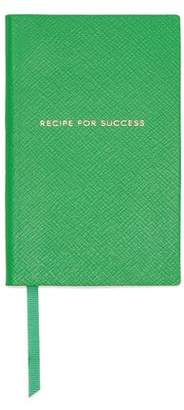 Smythson Printed Textured-leather Notebook