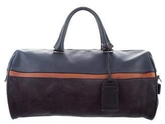 Giorgio Armani Suede & Leather Duffle Bag