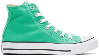 Converse Green Classic Chuck Taylor All Star OX High-Top Sneakers $55 thestylecure.com