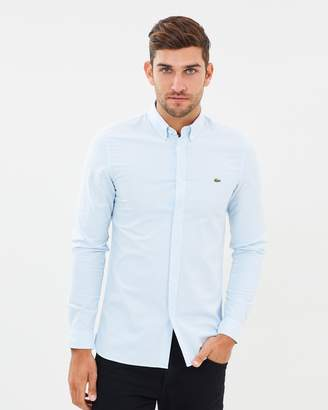 Lacoste Slim Stretch Oxford Stripe Shirt