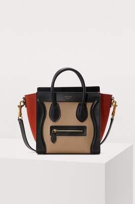 Celine Nano Luggage bag in grained calfskin