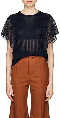 Chloé Women's Knit & Lace Top
