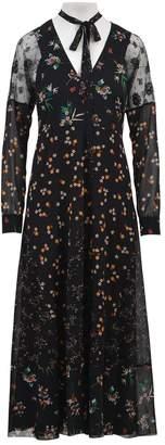 RED Valentino Silk Floral Print Dress