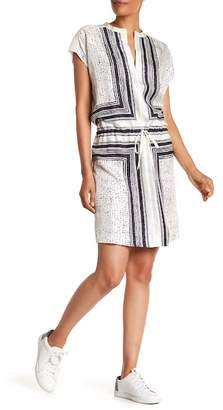 Vince Scarf Print Silk Dress