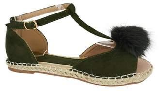 Kadell Summer Women Peep Toe Sandals Espadrilles Gladiator Casual Shoes Slippers Flats