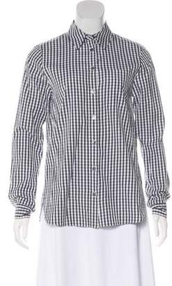Jenni Kayne Gingham Button-Up Top