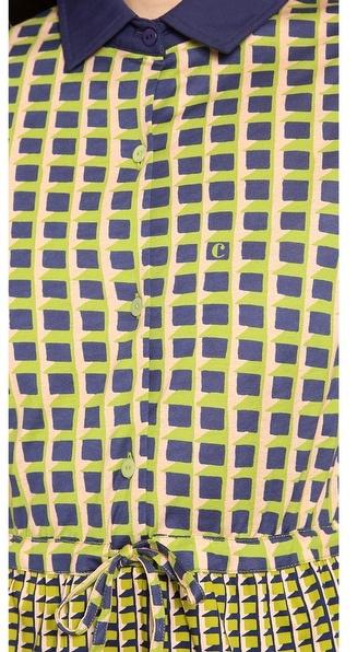 Carven Printed Long Sleeve Dress