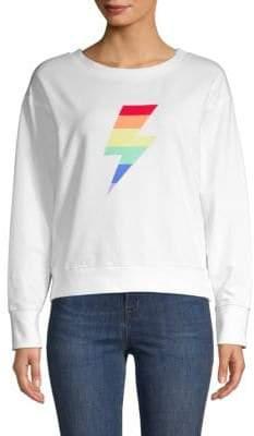 Sweet Romeo Graphic Cotton Blend Sweatshirt